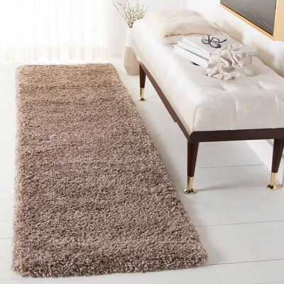 House Of Hampton Chiles Brown Area Rug Rug Size Runner 2 2 X 8 Solid Rugs Area Rugs Rugs