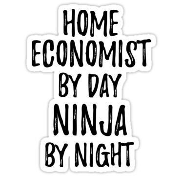 Home Economist Gift Ninja By Day Home Economist By Night In 2020 Photographer Gifts Yoga Instructor Gifts Funny Quotes Sarcasm