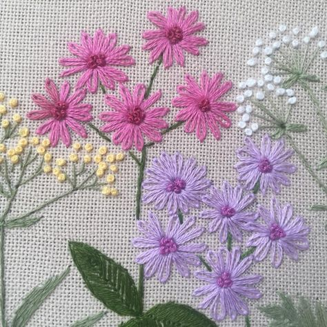 Flores Cross Stitch Kit Para Principiantes-lila violetas-hágalo usted mismo kit de bordado
