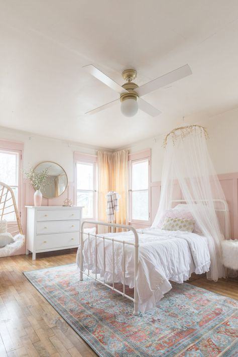 Pink and Gold Girls Bedroom & ORC Reveal The post Pink & Gold Girls Bedroom Decor Ideas appeared first on Baby Room Ideas. Bedroom Design, Little Girl Bedroom, Girls Bedroom, Little Girl Rooms, Bedroom Decor, Sanctuary Bedroom, Girl Room, Girl Bedroom Decor, Room Design