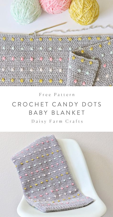 Free Crochet Blanket Pattern - Candy Dots Baby Blanket