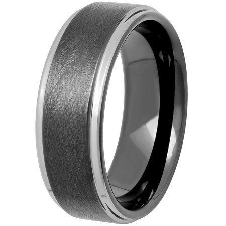 Brilliance Men S Two Tone Tungsten Frozen Finish Wedding Ring Band Walmart Com In 2020 Wedding Ring Bands Wedding Rings Tungsten Mens Rings