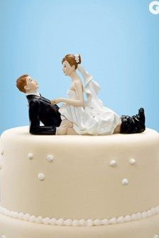 Sexual wedding cake toppers