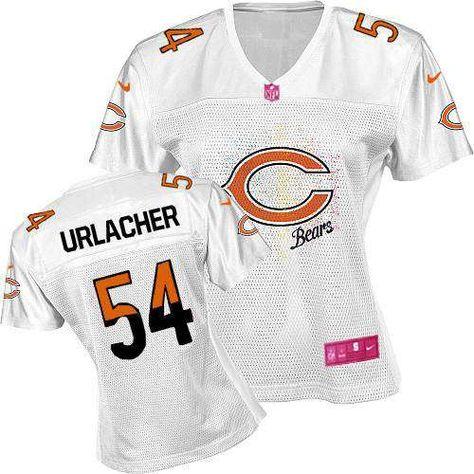 $109.99 Women's Nike Chicago Bears #54 Brian Urlacher Elite Fem Fan White Jersey