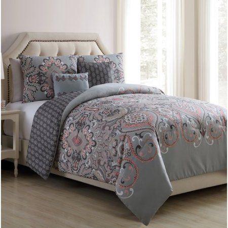 Red Barrel Studio Balfour Falls Blush Reversible Comforter Set
