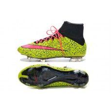 new style 38c62 ce365 Nuove scarpe da calcio economiche Nike Mercurial Superfly IV FG Giallo Nero  Rosa
