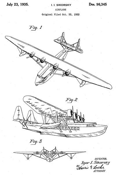 Curtiss P40 Warhawk Patent Drawing