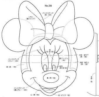 Minnie mouse head template