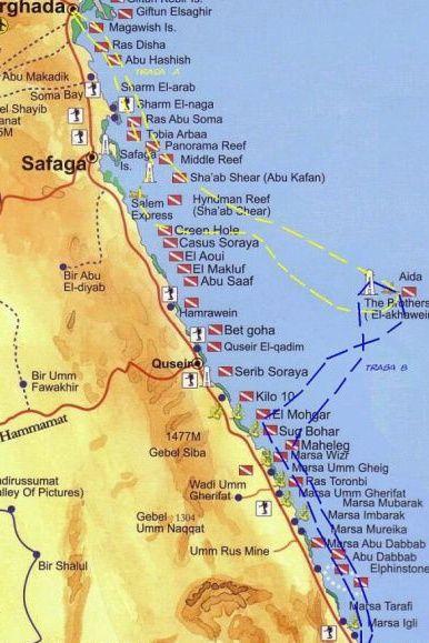 Sharm El Sheikh Wwwdiveclubcom Dive Sites Maps Pinterest - Map of egypt marsa alam