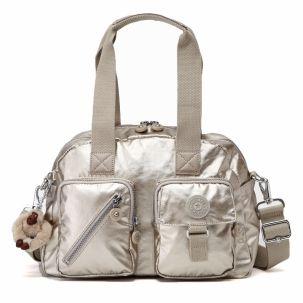 Defea Medium Handbag in Silver Beige #Kipling