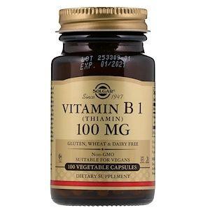 Solgar Vitamin B1 100 مجم 100 كبسولة نباتية Iherb Com Vegetable Capsules Vitamins Vitamin B1