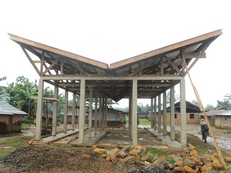 Haiti Volunteer Project: Vent Block, Butterfly Roof | DCS Precedents |  Pinterest | Architecture, Passive Cooling And Roof Trusses