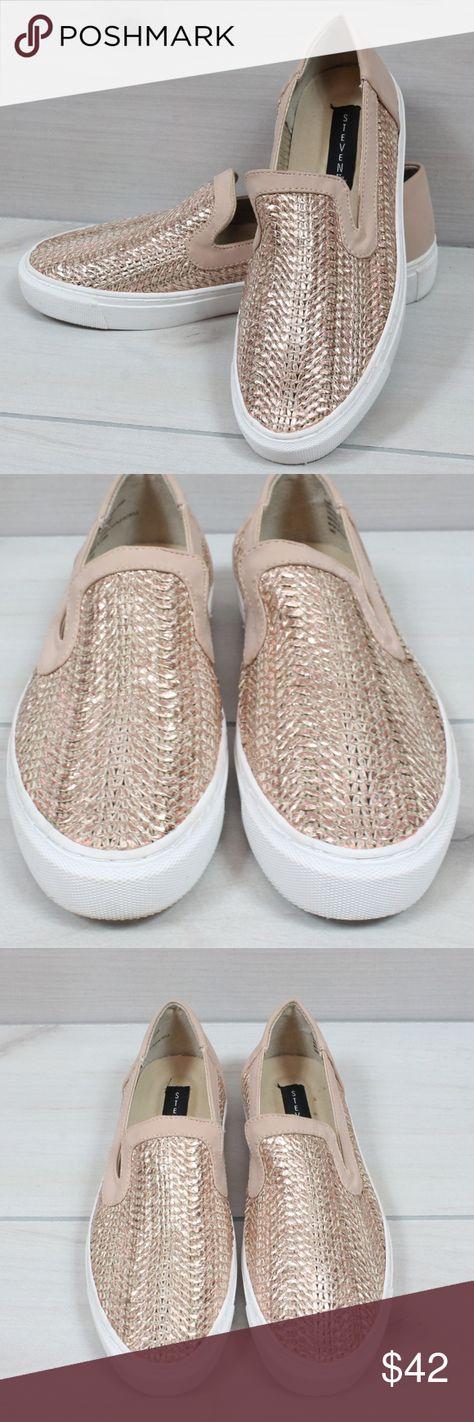 76cee5bf576 Steven by Steve Madden Rose Gold Kenner Shoes 7 Kenner Slip-On Sneakers in  rose