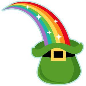 Rainbow into Leprechaun Hat: Miss Kate Cuttables-- SVG scrapbook cut file cute clipart files for silhouette cricut pazzles free svgs free svg cuts cute cut files