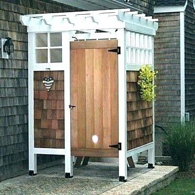 Outdoor Shower And Bathroom Design Ideas 2019 Outdoor Toilet Designs Melove Outdoor Shower Enclosure Outdoor Shower Outdoor Bathrooms