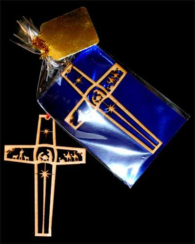 Nativity Cross Ornament by EnTheos - $5
