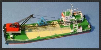 1 250 Kranschute Hartmut Riedemann Free Card Model Download Card Model Paper Models Scale Model Ships