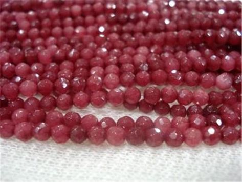 4x6mm Ruby Red Jade Gemstone Spacer Loose Beads Charm Crafts Findings 15/'/'