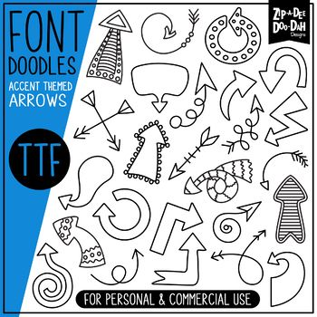 Arrows Doodle Font {Zip-A-Dee-Doo-Dah Designs} | January