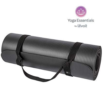 Levoit Yoga Mat 1 2 Inch Extra Thick Exercise Mats For Workout Fitness Pilates And Floor Exercises High Densi Mat Exercises Thick Exercise Mat Floor Workouts