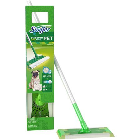 Swiffer Sweeper Pet Dry Wet Sweeping Kit 1 Sweeper 7 Dry Cloths 3 Wet Cloths Swiffer Green Cleaner Wet