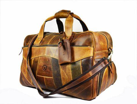 53c717c353 Leather duffle bag