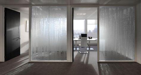 Vitrophanie dans les bureaux de Robert Walters à Bruxelles, Belgique