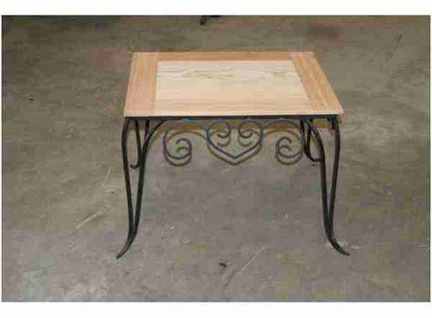 Table Basse Bois Et Fer Forge Frais Table Basse Bois Verre Fer