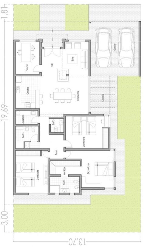 Modelo OPTIMA 100 m2 plano de casas Pinterest House, Tiny