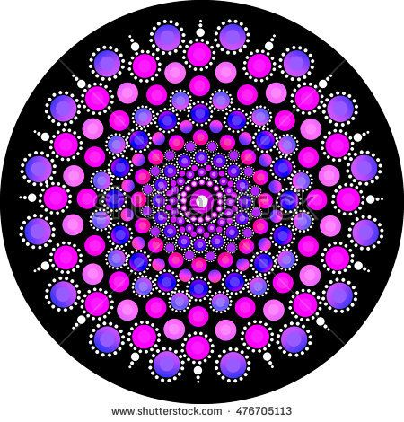 Mandala Stone Dots Stock Illustration 476705101
