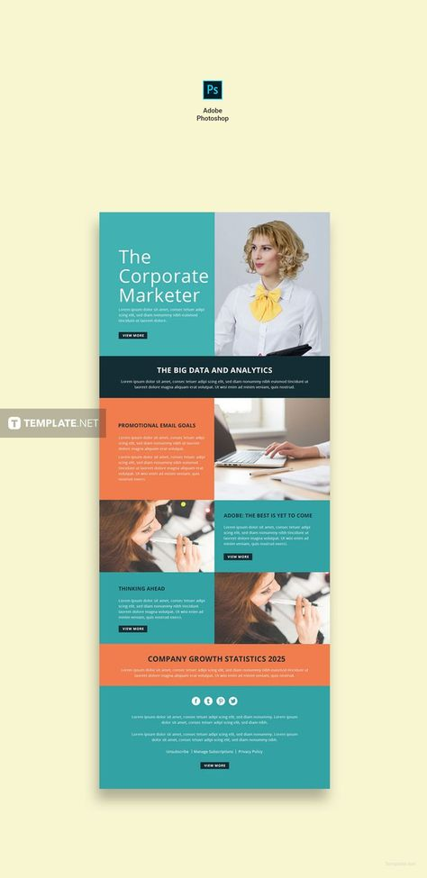Marketing Email Newsletter Template - Word   PSD   Apple Pages   Publisher   HTML5   Outlook