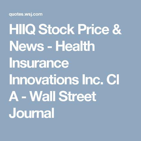 Hiiq Stock Price News Health Insurance Innovations Best