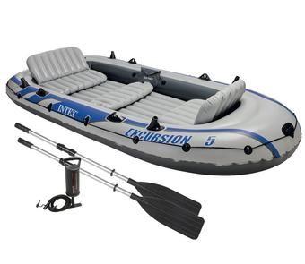 Intex Seahawk 4 Inflatable Raft River Lake Dinghy Boat Pump /& Oars Set 68351EP