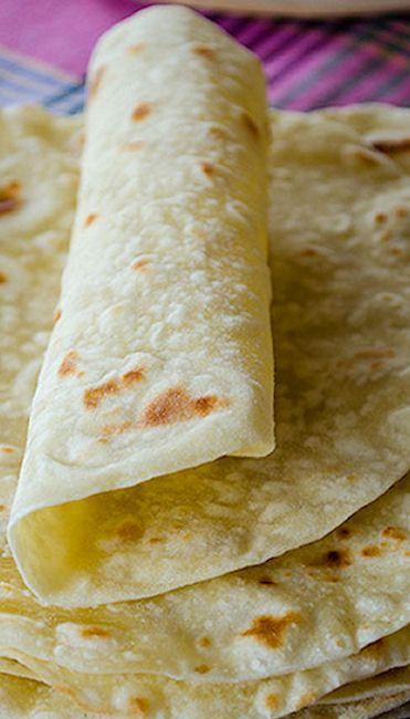 Basic Homemade Flour Tortillas... Going to use premixed gluten free all purpose flour