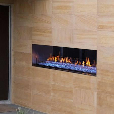 This Linear See Through Outdoor Fireplace Has An Industry First