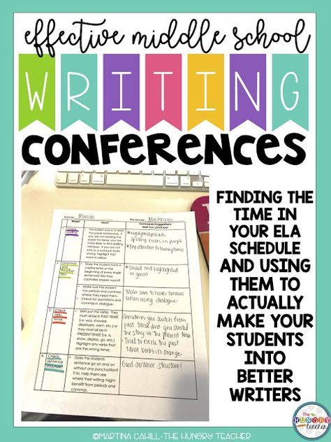 Writing Conferences in Middle School English Language Arts - The Hungry Teacher