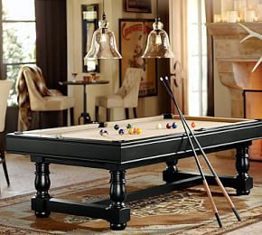 Pb Pool Table Table Tennis Conversion Cover Black Pool Table Room Game Room Family Pool Table Lighting