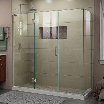 Monteray 46 W X 73 H Rectangle Hinged Shower Enclosure Corner