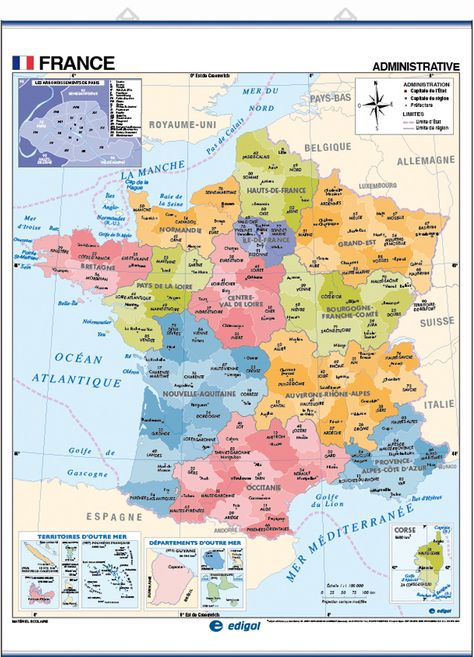 New Map Of France.Map Of France In French French Decor In 2019 France Map