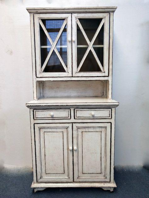 White antique finish