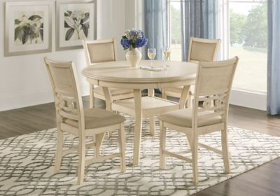 Brookgate Bisque 5 Pc Round Dining Set Dining Room Sets Dining Room Suites Rooms Home Decor