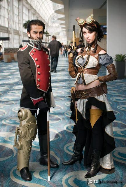 Lady Mechanika And Lord Blackpool Comic Book Comics Cosplay With Mechanical Leg And Mechanical Jaw Fo Lady Mechanika Steampunk Couture Steampunk Photography