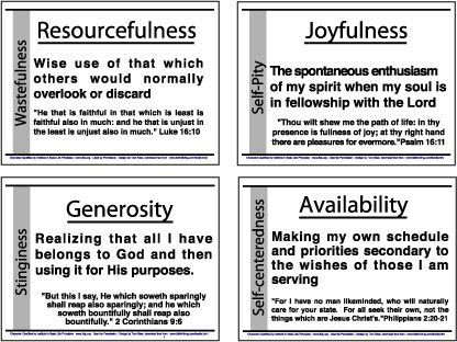 Image Result For Godly Character Traits Printables BiBle