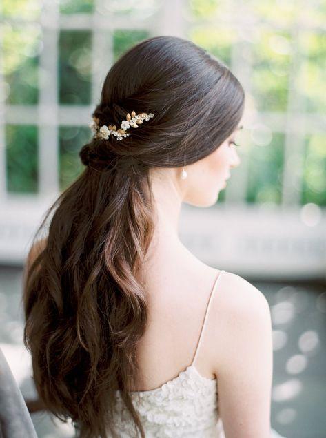 LAUREL   Gold Bridal Headpiece
