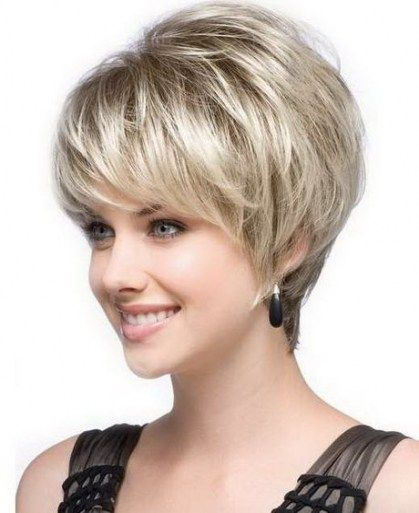 Hairstyles For Round Faces Over 50 Overweight Women 61 Ideas Short Hair With Layers Short Haircut Styles Thin Fine Hair
