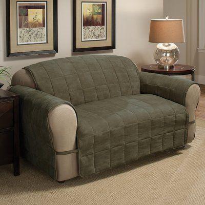 Red Barrel Studio Duvig Box Cushion Loveseat Slipcover Upholstery