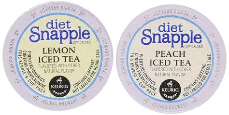 20 Count - Diet Snapple K Cup Variety Pack (10 Diet Snapple Peach Iced Tea * Click on the image for additional details.