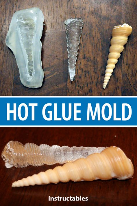 Use hot glue to easily and cheaply make a mold for small cast projects Instructables crafts reuse upcycle casting duplicate sculpture Glue Gun Crafts, Diy Resin Crafts, Crafts To Make, Stick Crafts, Cardboard Crafts, Resin And Wood Diy, Crafts With Hot Glue, Money Making Crafts, Plaster Crafts