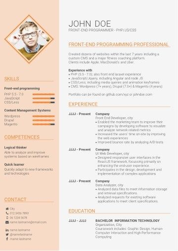 How To Choose Your Ideal Cv Template In 2020 Infographic Resume Template Resume Template Free Free Professional Resume Template
