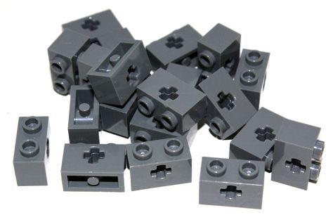 Lego 10 Dark Bluish Gray 1x2 brick with 1 pin NEW